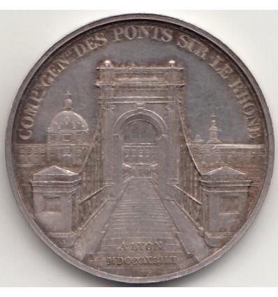 Jeton compagnie générale des ponts sur le Rhône 1844