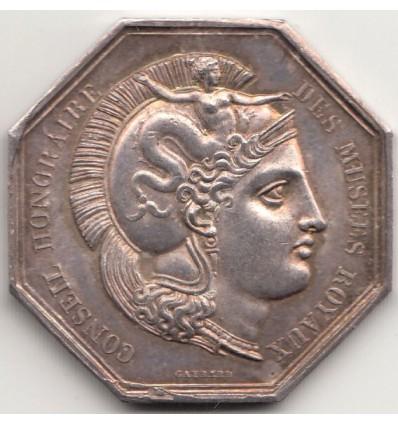 Jeton Charles X conseil honoraire des musées royaux s.d.