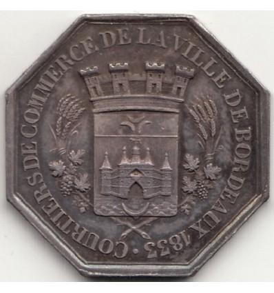 Jeton chambre de commerce de la ville de Bordeaux 1833