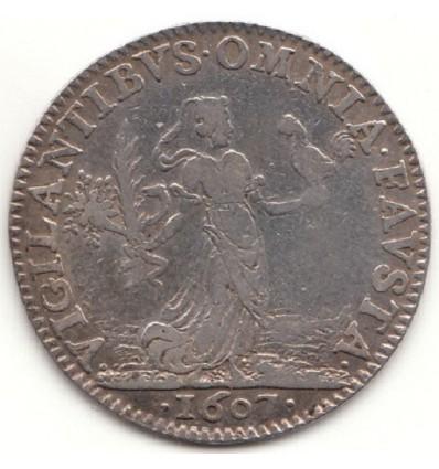 "Jeton Henri IV "" vigilantibus omnia fausta "" 1607"