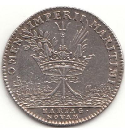 Jeton Louis XIV galères royales, défaite espagnole à Carthagène ( Colombie ) s.d.