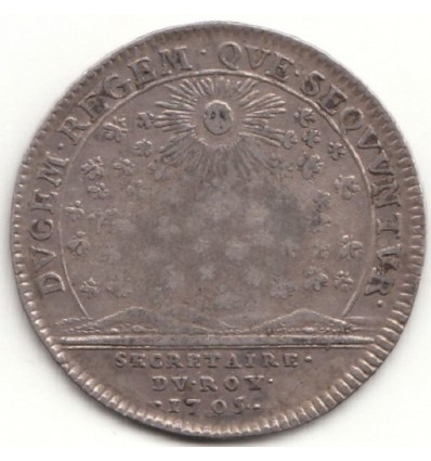 Jeton Louis XIV secrétaires du roi 1705