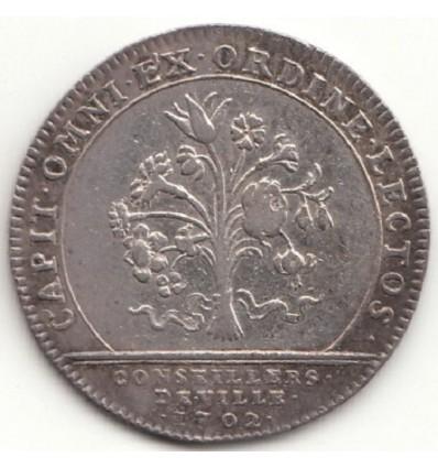 Jeton Louis XIV conseillers de ville 1702