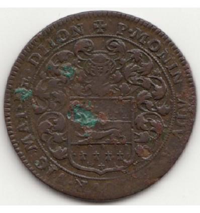 Jeton aux armes de Pierre Morin, maire de Dijon 1678