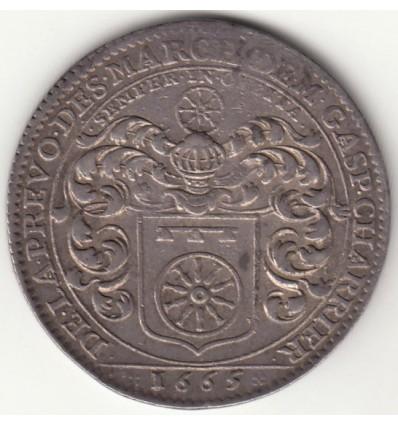 Jeton aux armes de Gaspard Charrier, Consulat de Lyon 1665