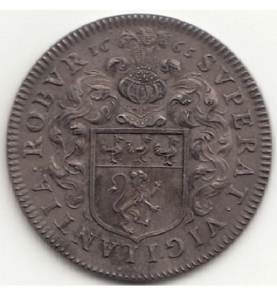 Jeton aux armes de Théophraste Renaudot, conseiller du roi pour la Cour des monnaies 1665