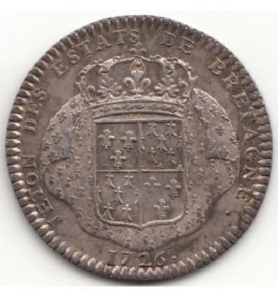 Jeton Louis XV Etats de Saint-Brieuc 1726