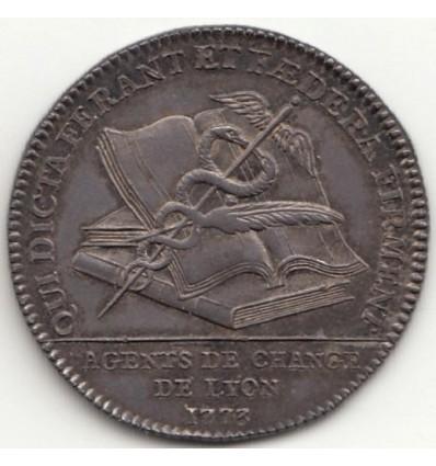 Jeton agents de change de Lyon 1773