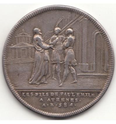 Jeton Histoire de la République romaine, Paul Emile triomphe de Persée par Dassier s.d.