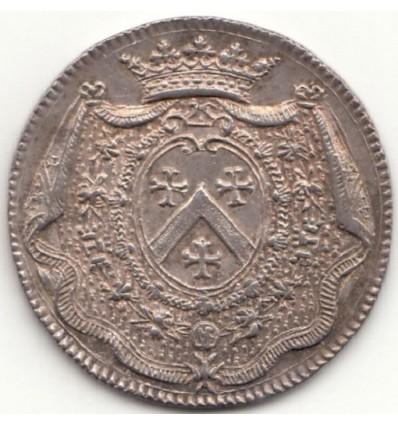 Lyonnais jeton aux armes de Louis-Nicolas de Neufville, marquis d'Alincourt s.d.