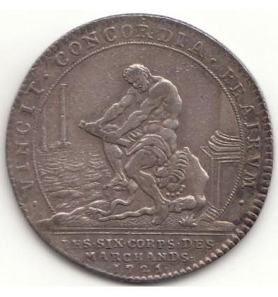 Jeton Louis XV les six corps des marchands 1725