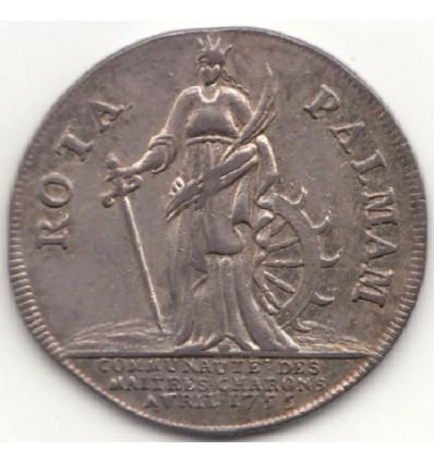 Jeton Louis XV maîtres-charrons 1755