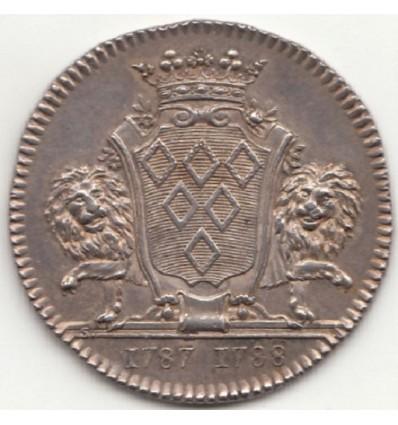Bretagne jeton aux armes de Richard de la Pervanchère, maire de Nantes 1787-1788