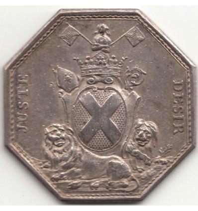 Jeton aux armes de Louis de Jarente de Sénas d'Orgeval 1775