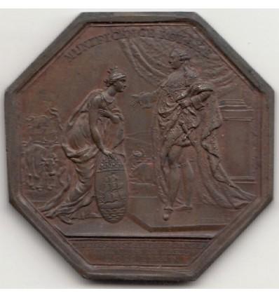 Jeton Louis XVI société royale d'agriculture 1785