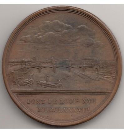Pont de Louis XVI  ville de Paris par Duvivier 1788