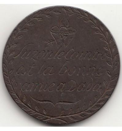 Médaille de fiançailles gravée s.d. ( fin XVIII ème - début XIX ème )