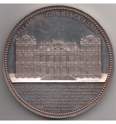 Napoléon III inauguration du palais du commerce à Lyon 1856