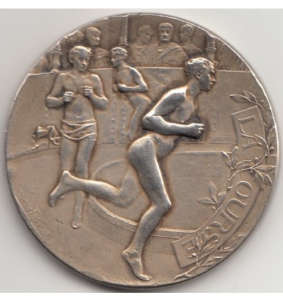 "Sports médaille "" La course "" par Rivet 1895"