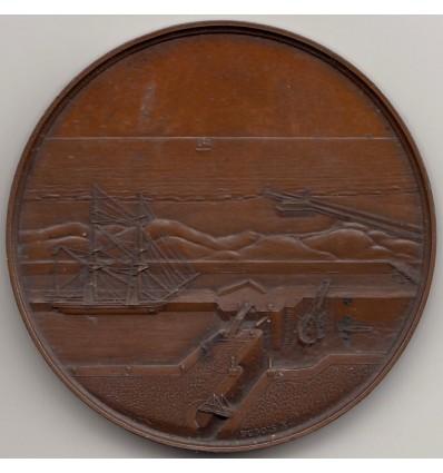 Louis-Philippe I bassin à flot du port de Calais 1837