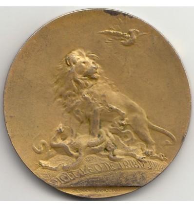 Italie médaille jubilaire de Léon XIII par Marcelle Lancelot-croce 1900