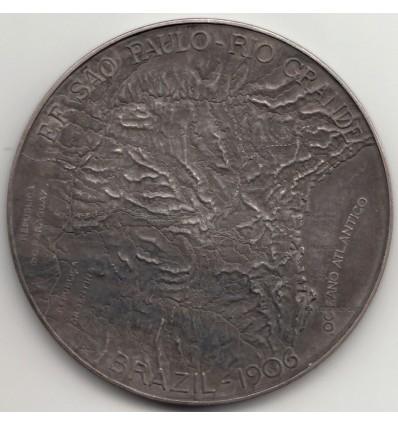 Brésil, raid de 2500 kms entre Sao Paulo et Rio Grande 1906