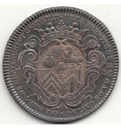 Jeton aux armes de Pierre-Antoine de Castagnère, prévôt des marchands de Paris 1721