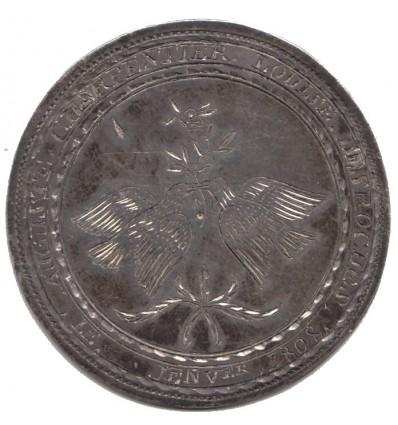 Premier Empire médaille de mariage 1808