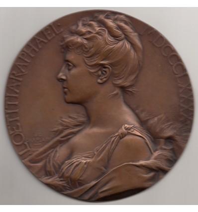 Portrait de Loetitia Raphaël par Chaplain 1890