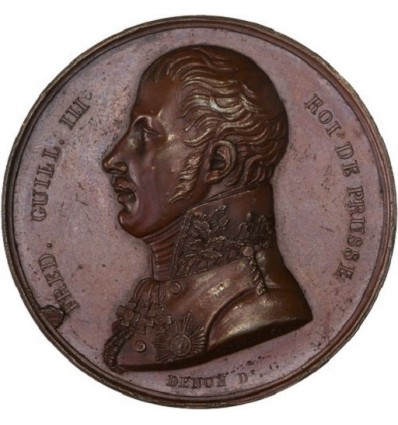 Prusse, visite de Guillaume III à la Monnaie de Paris 1814