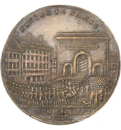 Premier Empire entrée des alliés à Paris 1814