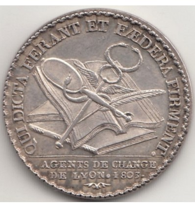 Jeton Napoléon I agents de change de Lyon 1803