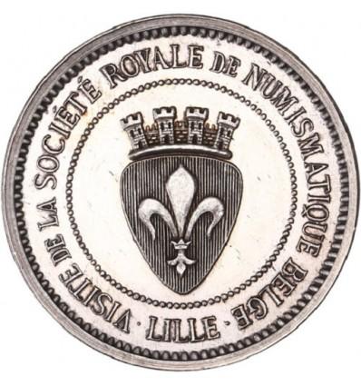 Visite de la société royale de numismatique belge à Lille 1882