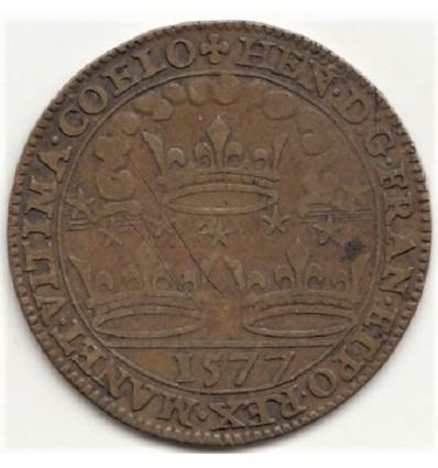 Jeton Henri III chambre des comptes de Bretagne 1577