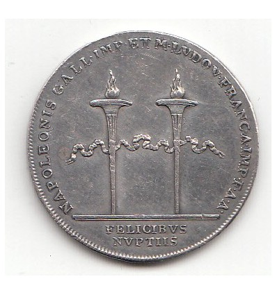 Jeton mariage de Napoléon I et Marie-Louise 1810