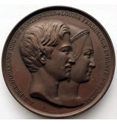 Louis-Philippe I, mariage du duc de Montpensier et de l'infante d'Espagne 1846