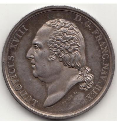 Jeton Louis XVIII Claude Forimond Esmangart de Feynes, préfet de la Manche 1824