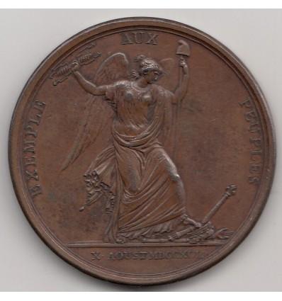 Constitution prise des Tuileries le 10 août 1792