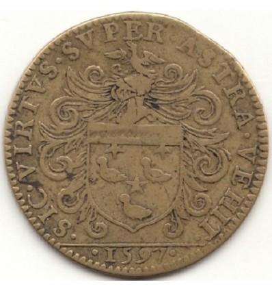 Jeton aux armes de Bénigne Frémiot, maire de Dijon 1597