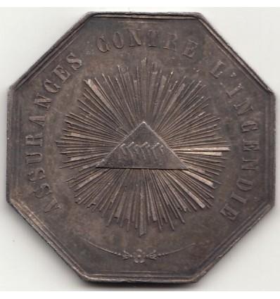 Jeton La Providence, assurances contre l'incendie 1838