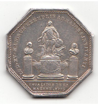 Jeton Louis XV Invalides de la marine 1773